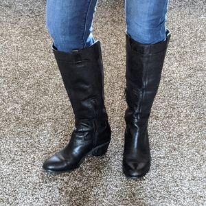 Black Leather Arturo Chiang boots size 6.5